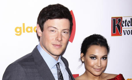 Cory Monteith and Naya Rivera