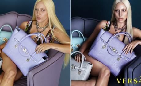 Lady Gaga: Before and After Photoshop