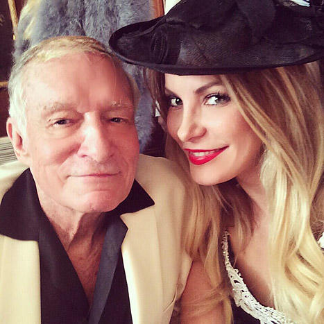 Hugh Hefner and Crystal Harris Tweet