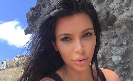 Kim Kardashian in St. Bart's