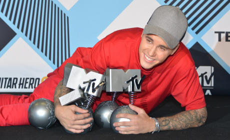 Justin Bieber at the EMAs