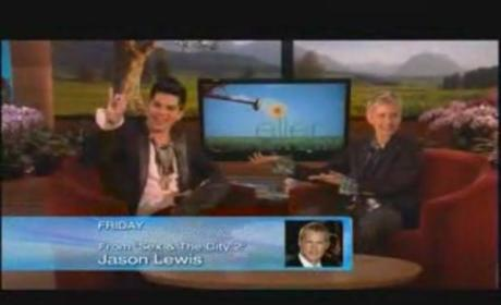 Adam Lambert Dishes and Sings on Ellen