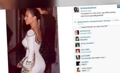 Kim Kardashian Wants to Be #Skinny
