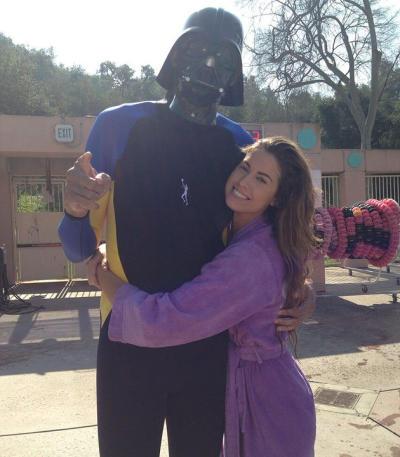 Katherine Webb and Kareem Abdul-Jabaar