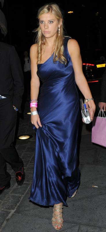 Chelsy davy blue dress