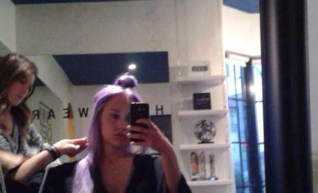 Amanda Bynes: Purple Hair Photo