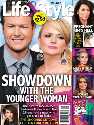 Miranda Lambert/Blake Shelton Tabloid Cover