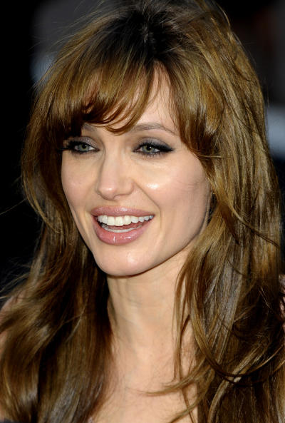 Angelina Jolie Bangs Hairstyle