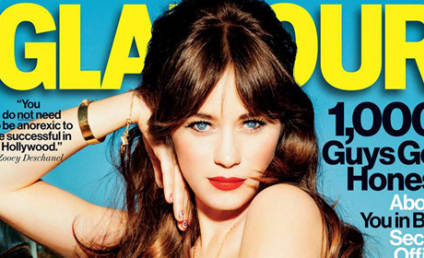 Zooey Deschanel in Glamour: You Don't Need to Look Anorexic!