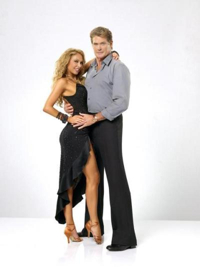 Kym Johnson and David Hasselhoff