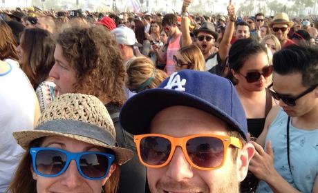 Aaron Paul, Kellan Lutz Photobomb Coachella Couple!