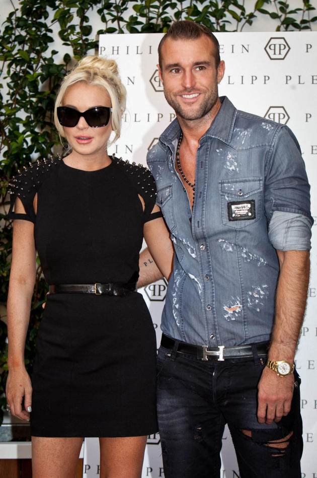 Philipp Plein Schoudertasje : Lindsay lohan and philipp plein not dating the