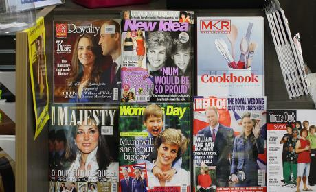 Australian Newsstand Celebrates Will & Kate's Royal Wedding