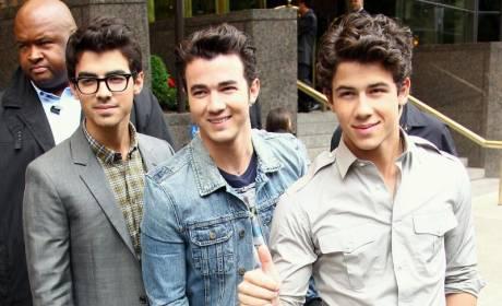 Jonas Brothers Promote Jonas Brothers Tour Book