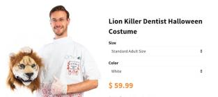 Cecil the Lion Killer Halloween Costume: So Funny or So Foul?