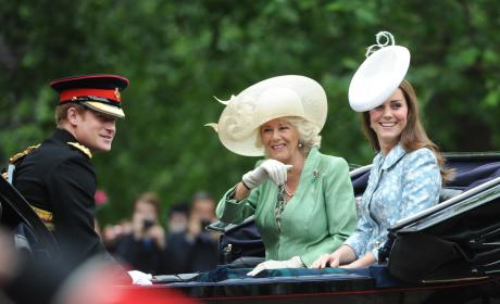 Prince Harry, Camilla and Kate Middleton: Trooping the Colour 2015