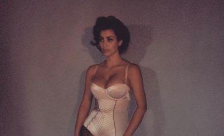 Kim Kardashian Throws It Back