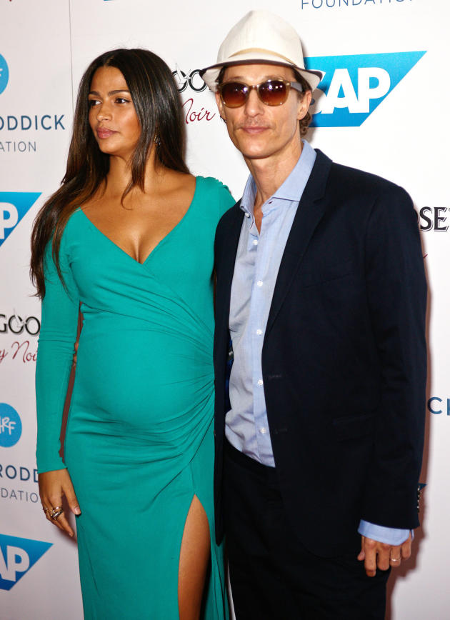 Matthew McConaughey with Camila Alves