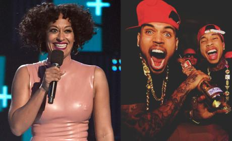 Tracee Ellis Ross: Throwing Shade at Tyga and Chris Brown at BET Awards?