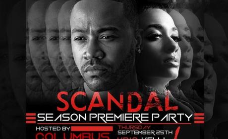 Columbus Short Scandal Party Invite