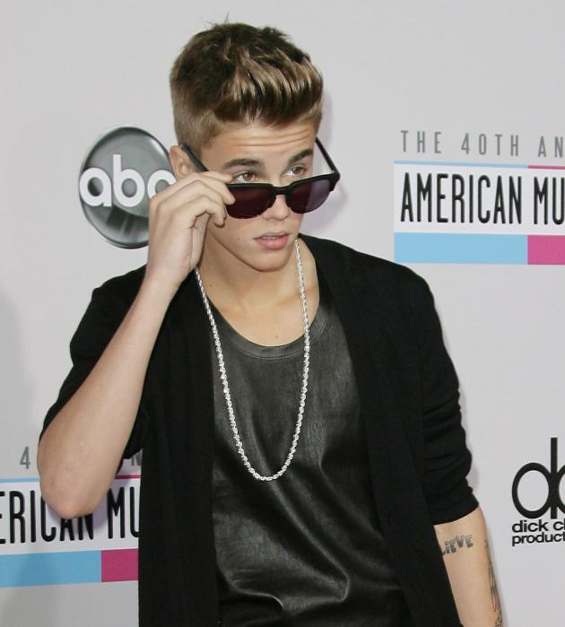 Justin Bieber on AMA Red Carpet