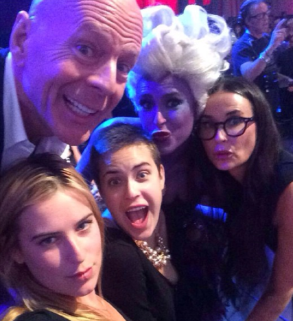 Rumer Willis Family Selfie