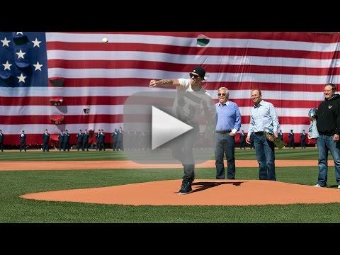 Tom Brady First Pitch Fail