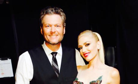 Blake Shelton and Gwen Stefani Get Ready to Perform on 'The Voice'