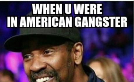 Denzel Washington Mustache Photo