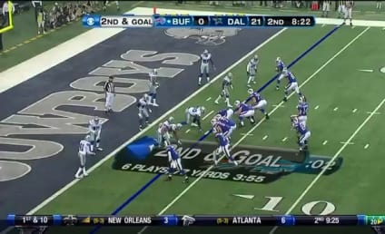 David Nelson, Bills Wideout, Scores Touchdown; Hugs Cowboys Cheerleader/Girlfriend