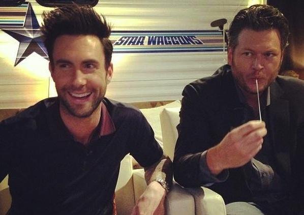 Adam Levine and Blake Shelton
