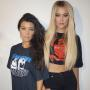 Kourtney and Khloe Kardashian Plastic Surgery Looking Photo
