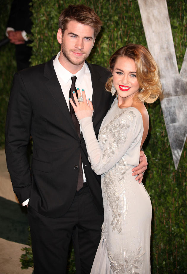 Liam Hemsworth and Miley Cyrus Vanity Fair Party Pic