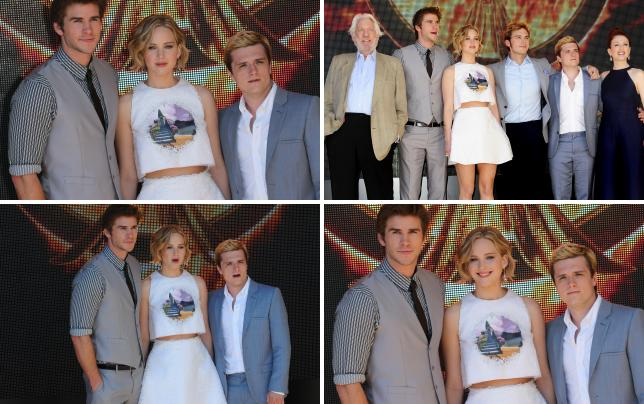 Liam hemsworth and jennifer lawrence and josh hutcherson
