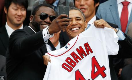 David Ortiz-Barack Obama Selfie