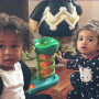 Chris Brown and Tyga Have Play Date With King, Royalty!