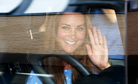 Kate Middleton, Prince William, Royal Baby Leave Hospital