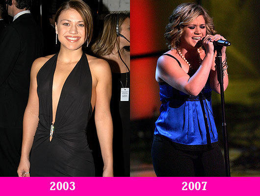 Kelly Clarkson Then and Now