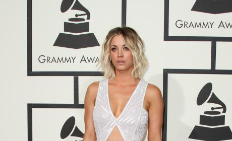 Kaley Cuoco at 2016 Grammys