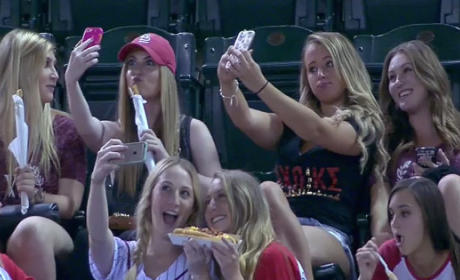 Sorority Girls Get Hilariously SLAMMED for Taking Selfies at Baseball Game