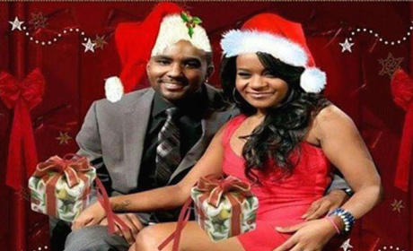 Nick Gordon Photoshops Bobbi Kristina Brown on Christmas Card