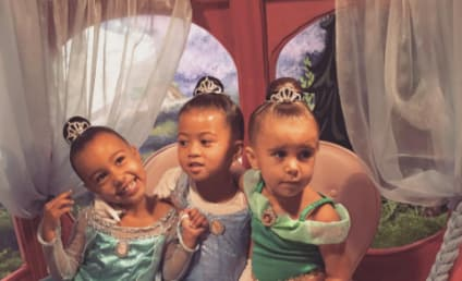 North West & Penelope Disick Get Princess Makeovers at Disneyland!
