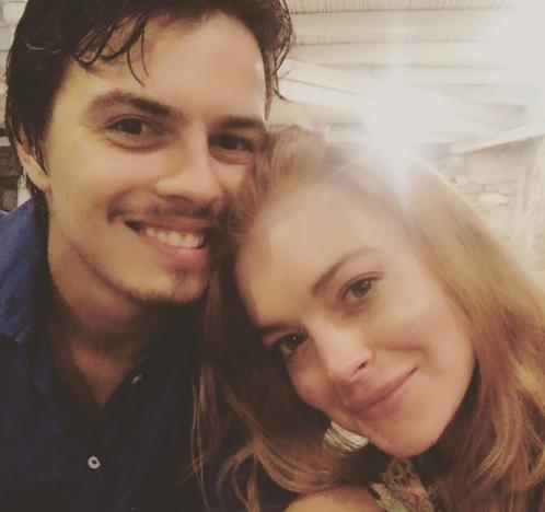 Egor Tarabasov and Lindsay Lohan Photo