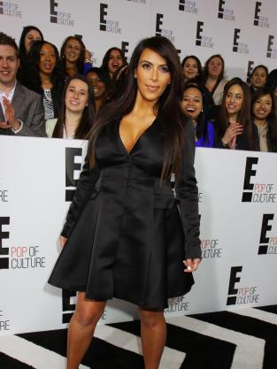 Kim Kardashian Overcoat Pic