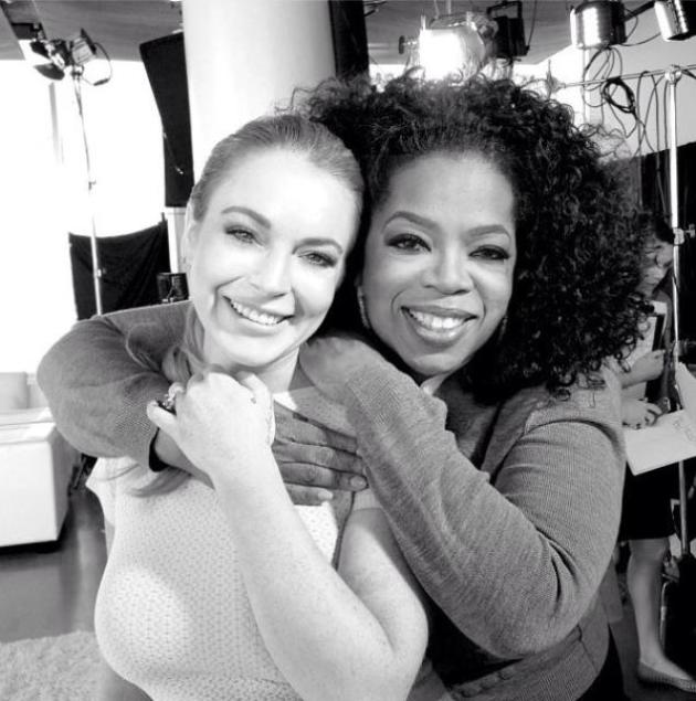 Lindsay Lohan and Oprah Photo