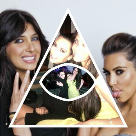 Brittny Gastineau and Kim Kardashian