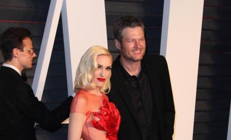 Gwen Stefani and Blake Shelton: Vanity Fair Oscar Party 2016