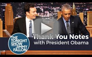 Barack Obama Reads Thank You Notes on The Tonight Show