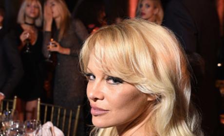 Pamela Anderson in Black