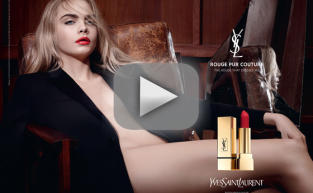 Cara Delevingne Strips WAY Down for Lipstick Ad